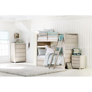 Legacy Classic Kids Indio by Wendy Bellissimo Twin Over Twin Bedroom Group