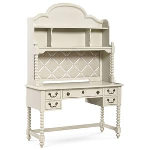 Legacy Classic Kids Inspirations by Wendy Bellissimo Boutique 3-Drawer Desk and Hutch with 4 Shelves and French Memo Board