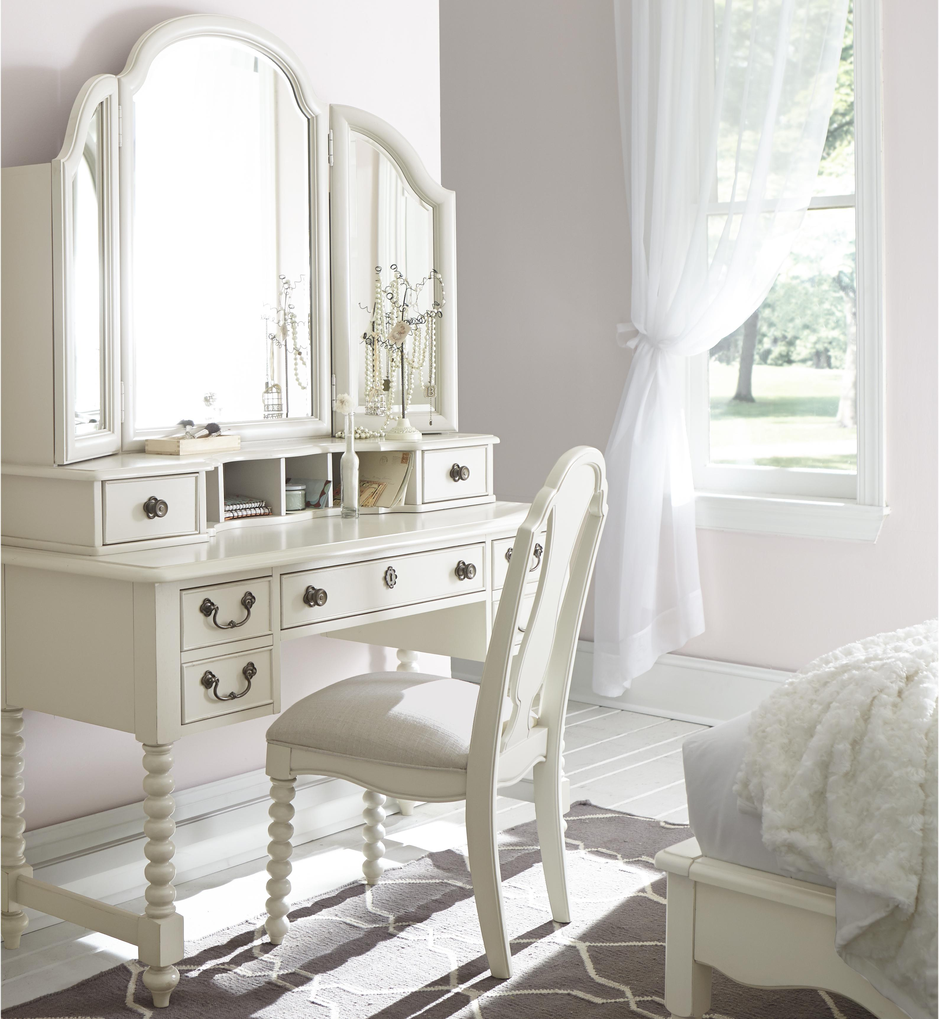 Legacy Classic Kids Inspirations by Wendy Bellissimo Desk and Mirror Combo - Item Number: 3832-6100+6201
