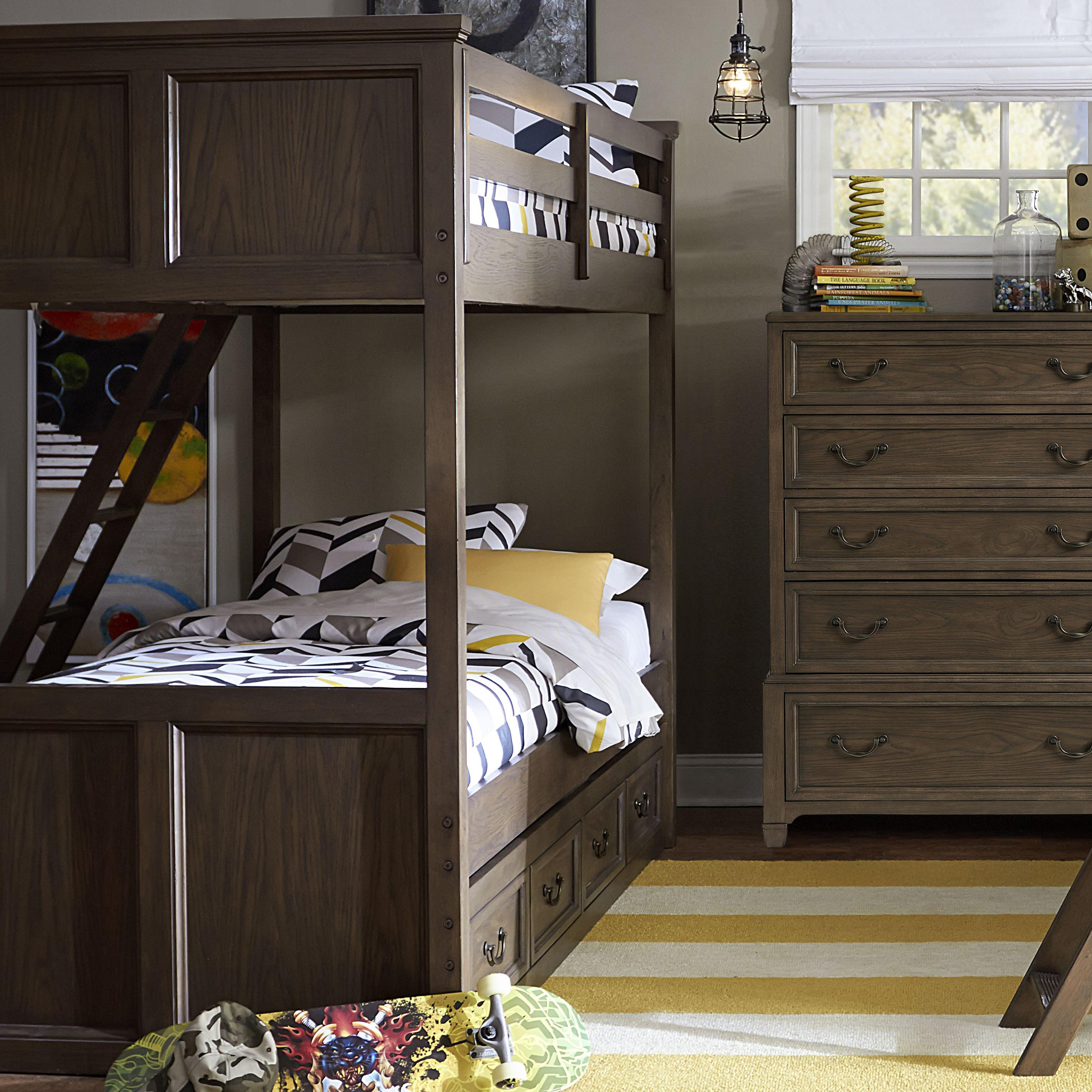 Legacy Classic Kids Kenwood Twin Over Twin Bunk Bed with Storage - Item Number: 4800-8510K+9300