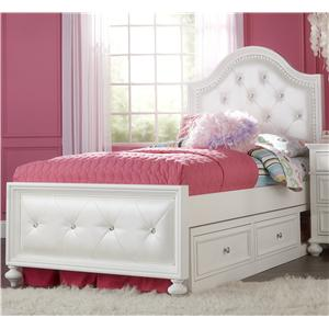 Legacy Classic Kids Madison Twin Upholstered Bed with Double Storage