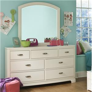 Legacy Classic Kids Park City White Dresser with Arched Mirror