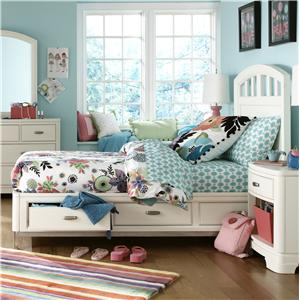 Legacy Classic Kids Park City White Full Platform Storage Bed