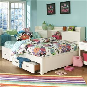 Legacy Classic Kids Park City White Twin Size Study Lounge Bed