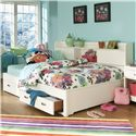 Legacy Classic Kids Park City White Full Size Study Lounge Bed - Item Number: 9910-5504K
