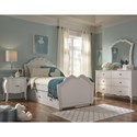 Legacy Classic Kids Tiffany Traditional 6-Drawer Dresser with Silver Mirrored Knobs