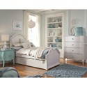 Legacy Classic Kids Topaz Traditional 4-Drawer Chest with Silver Mirrored Knobs