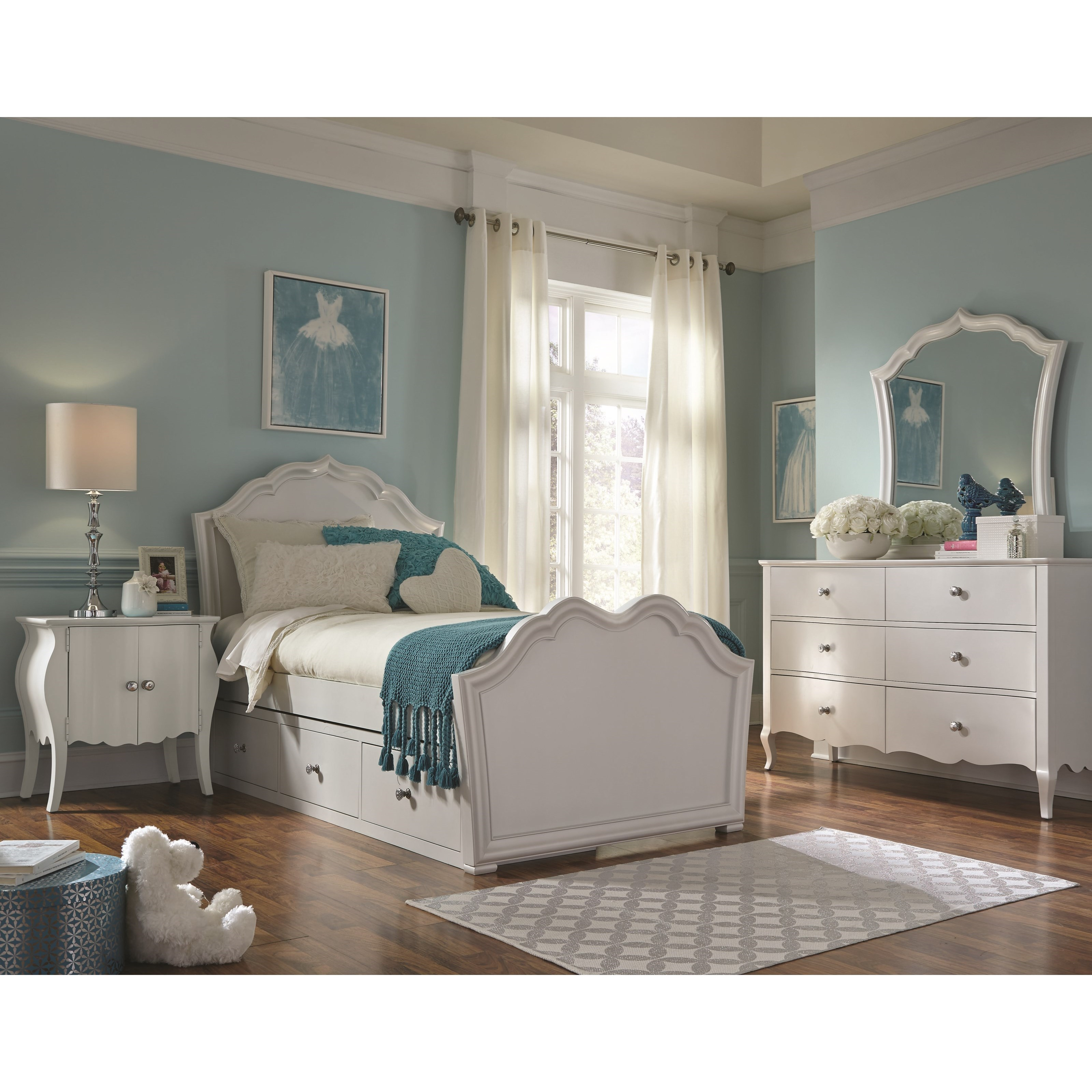 Legacy Classic Kids Tiffany Full Bedroom Group - Item Number: 5930-4104k+3101+1100+0100+9300