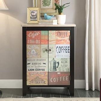 Coffee Sign 2 Door Chest