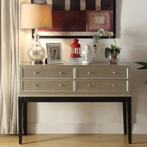 Legends Furniture Anthology Irene Antique Silver Console Table