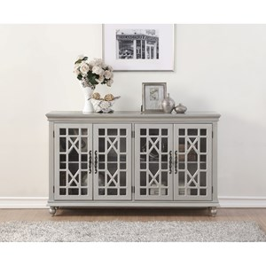Legends Furniture Anthology Meghan Silver 4-Door Chest