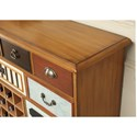 Legends Furniture Anthology Jackson Wine Cabinet with Eclectic Design