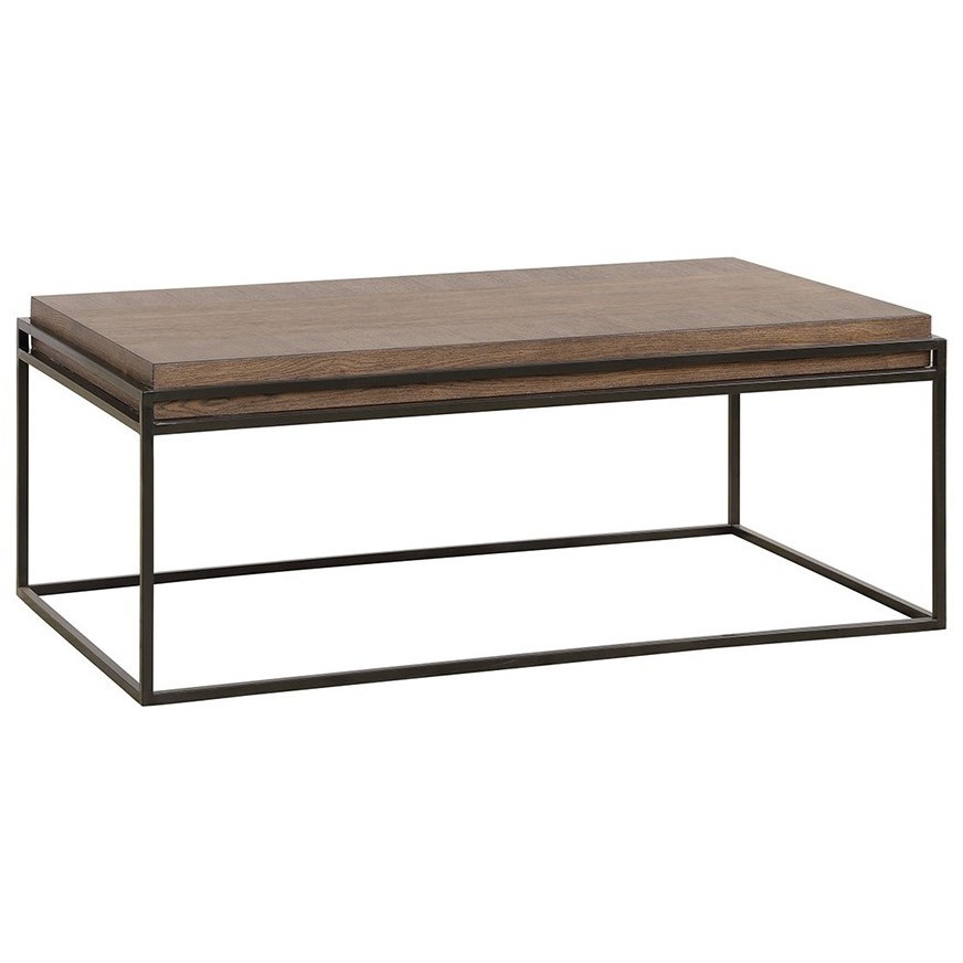 Legends Furniture Arcadia Zarc 4200 Modern Rustic Coffee Table Dunk Bright Furniture Cocktail Coffee Tables