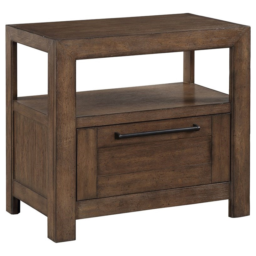 Arcadia Open Nightstand by Legends Furniture at Home Furnishings Direct