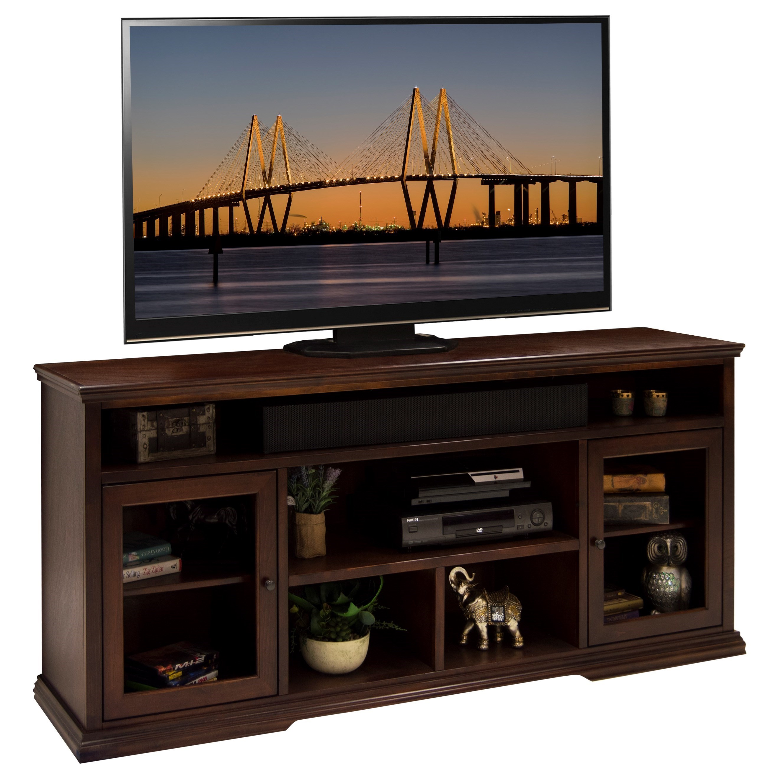 Legends Furniture Ashton Place 74-Inch Tall TV Cart - Item Number: AP1331.DNC