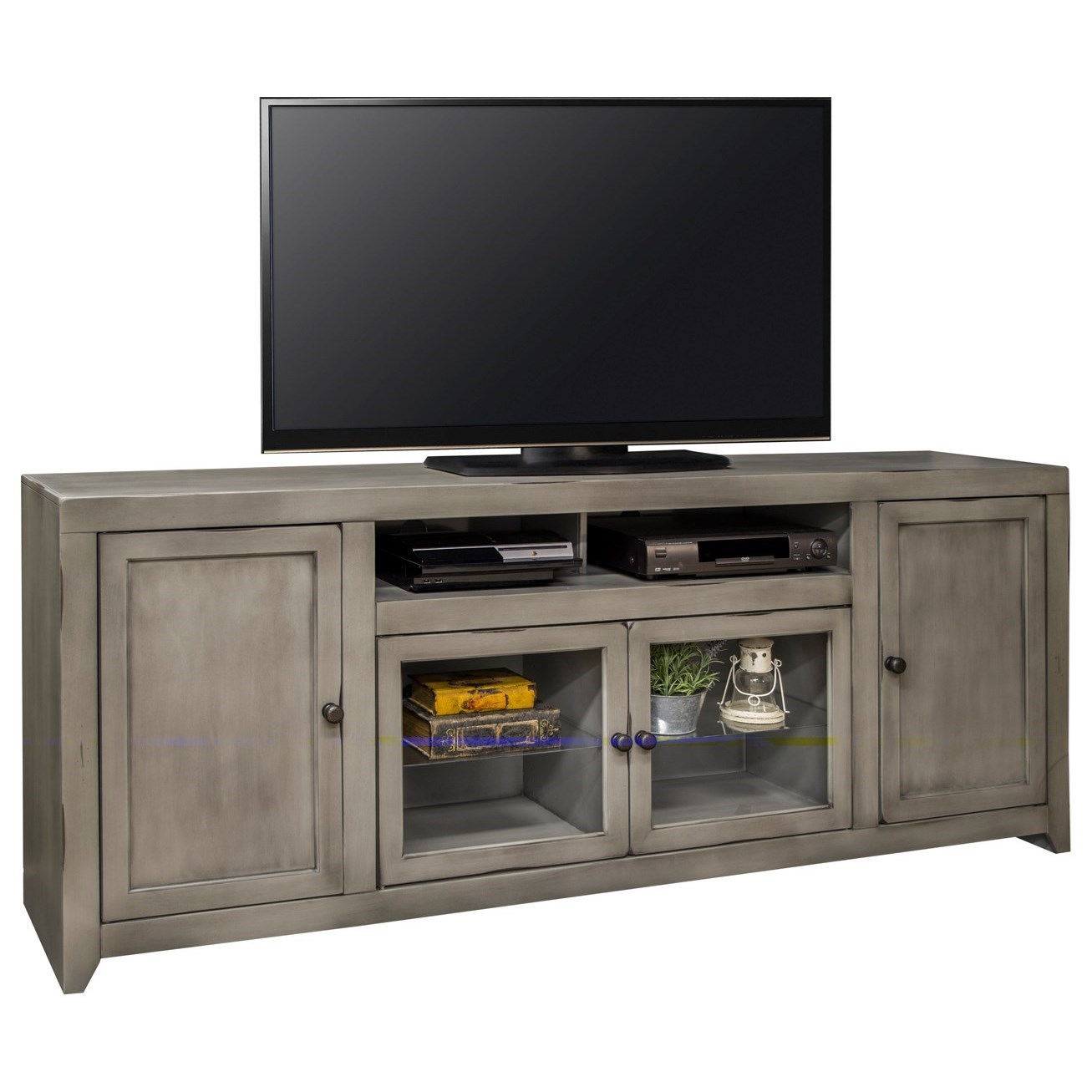 "Legends Furniture Astoria Collection Astoria 85"" TV Console - Item Number: AS1585-AGG"