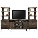 Legends Furniture Avondale Entertainment Wall Console - Item Number: AV1328-CHR+2x3975-CHR