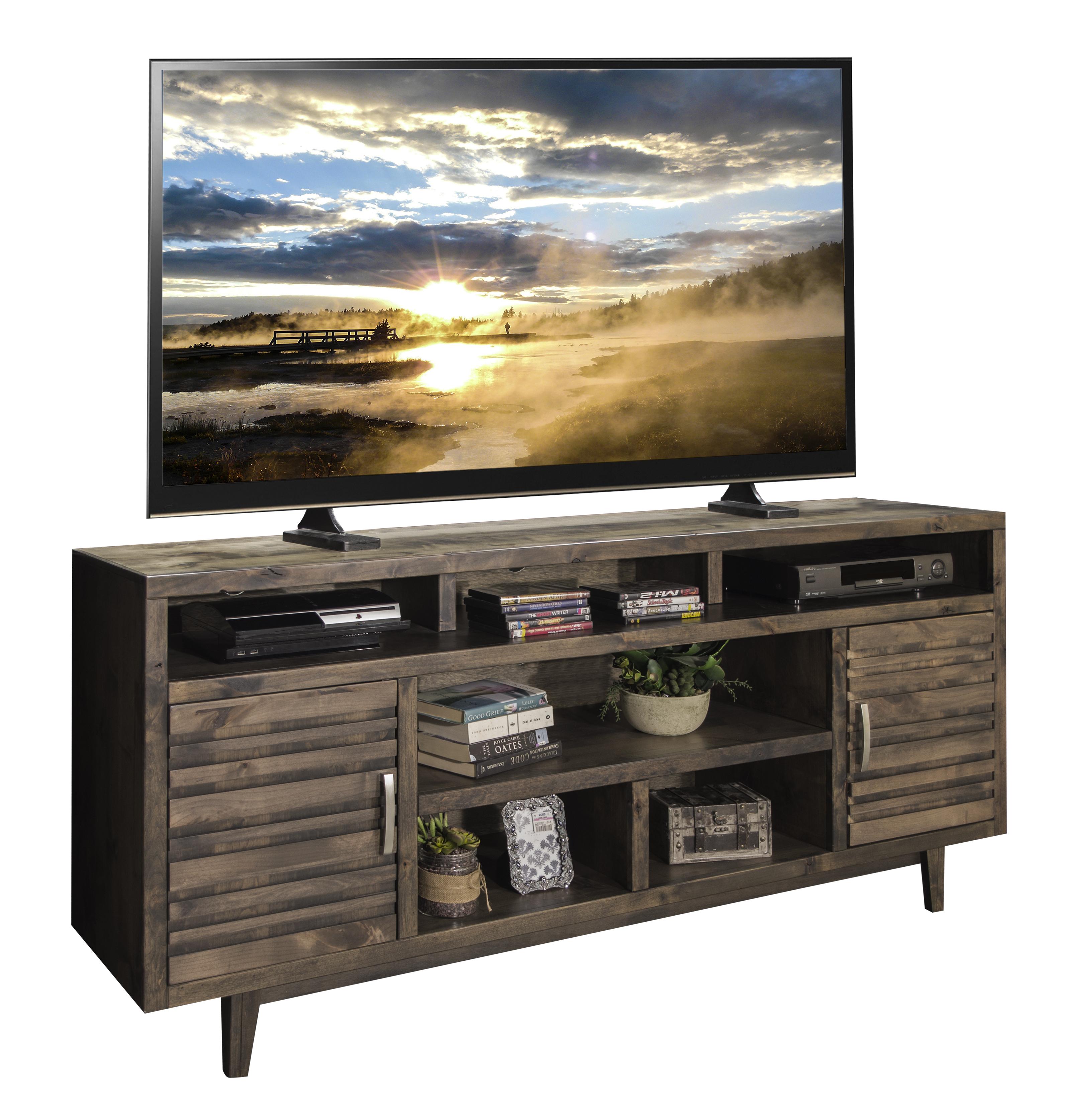 """Legends Furniture Avondale 76"""" TV Console - Item Number: AV1331-CHR"""