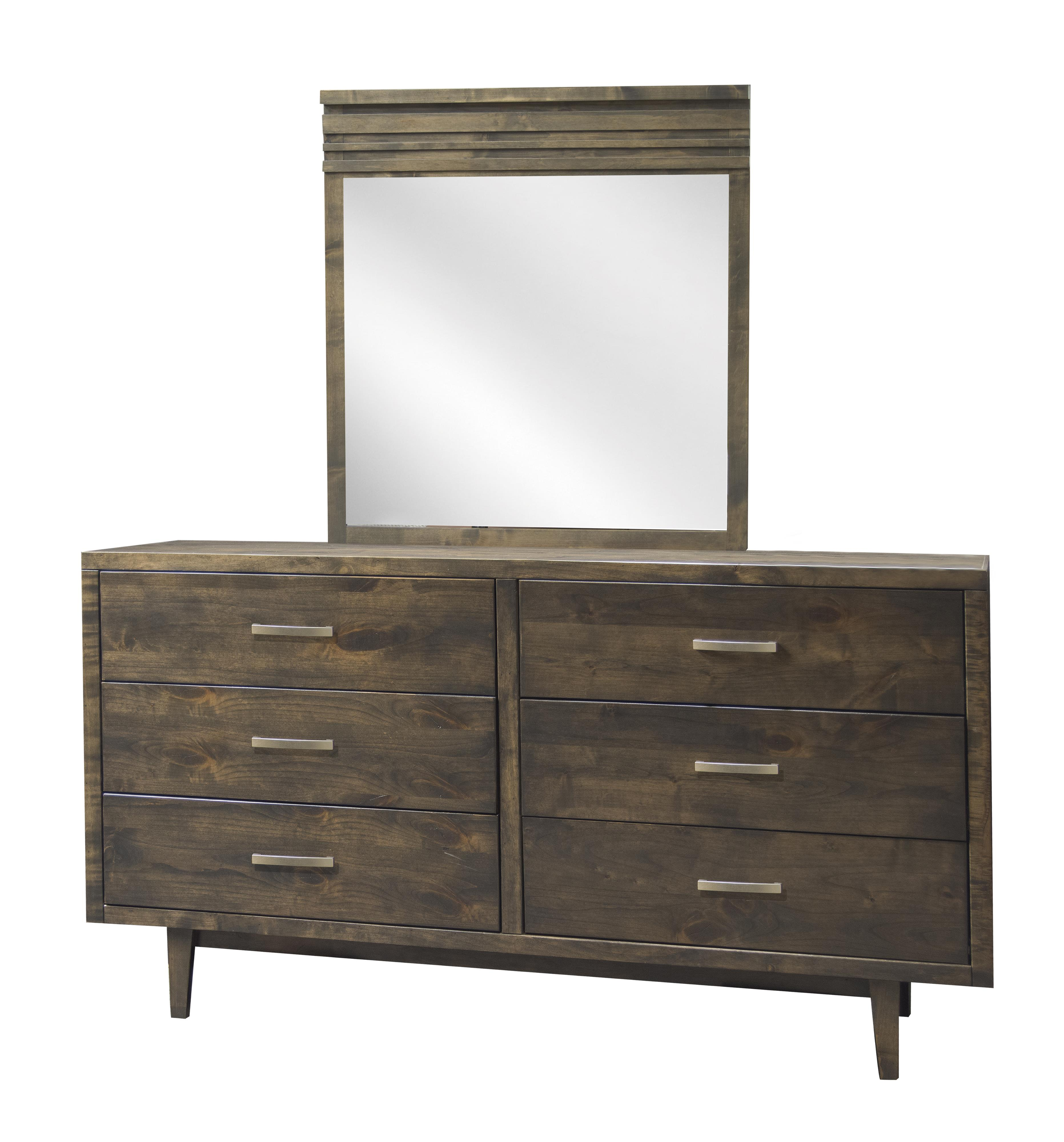 Legends Furniture Avondale 6 Drawer Dresser & Mirror - Item Number: AV7103-CHR+AV7104-CHR