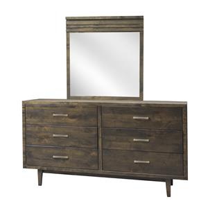 Legends Furniture Avondale 6 Drawer Dresser & Mirror