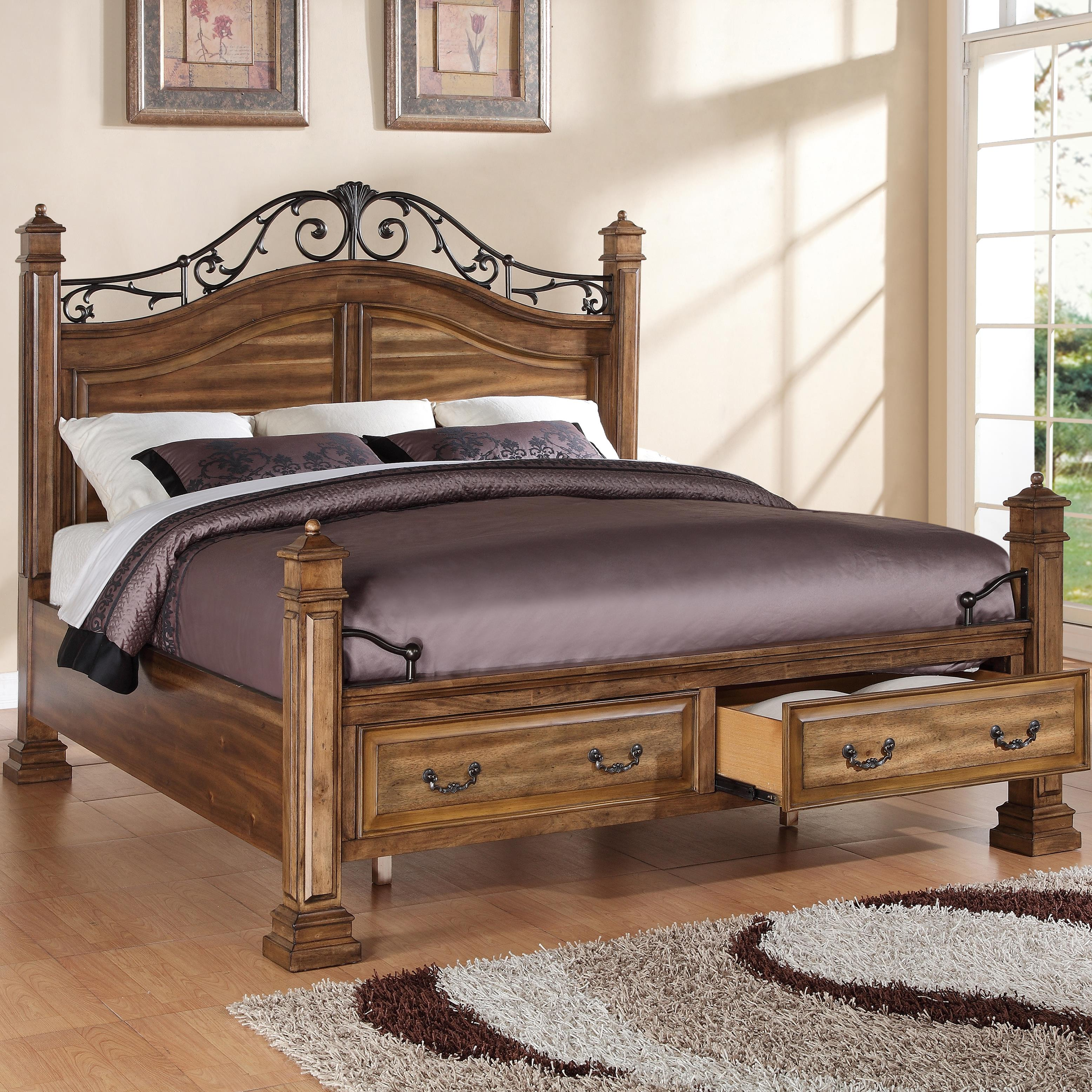 Legends Furniture Barclay King Storage Bed - Item Number: ZBCL-7004+7009+7010
