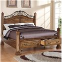 Legends Furniture Barclay Queen Storage Bed with 2 Drawers - Bed Shown May not Represent Size Indicated