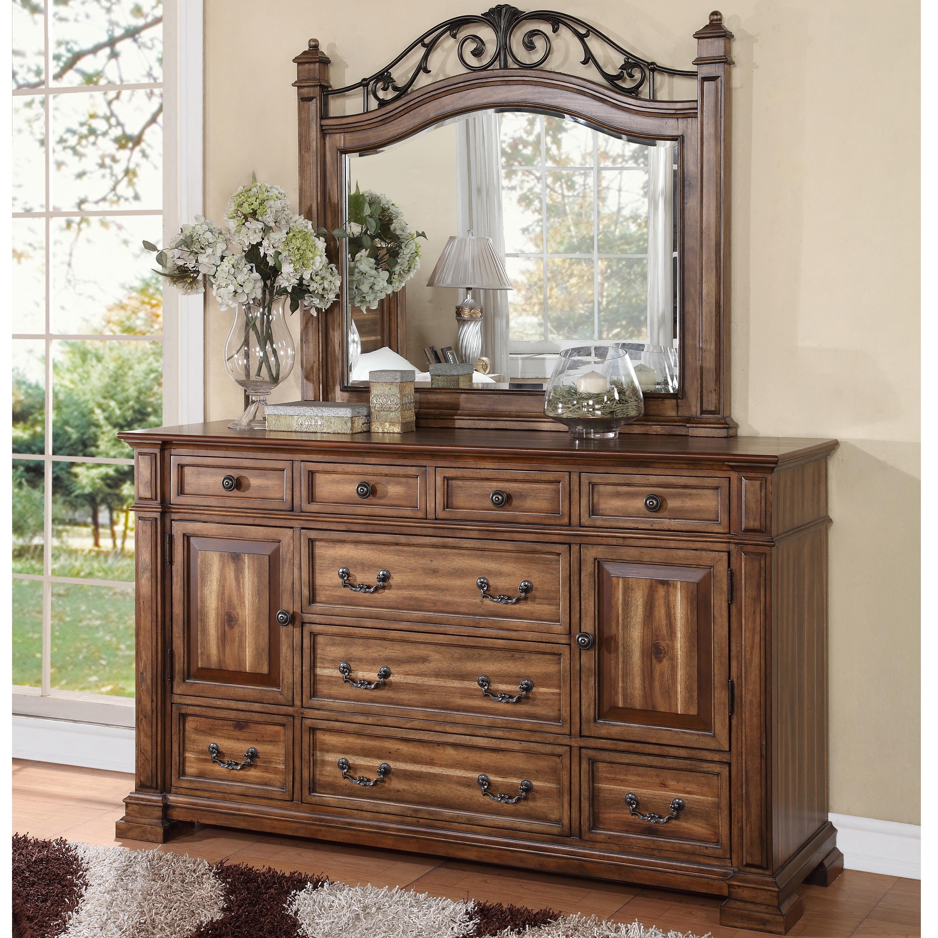 Legends Furniture Barclay Dresser and Mirror Set - Item Number: ZBCL-7013+ZBCL-7014