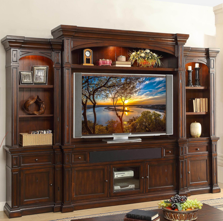 Legends Furniture Berkshire  Entertainment Center - Item Number: ZBRK-1776+2076+3001+3002