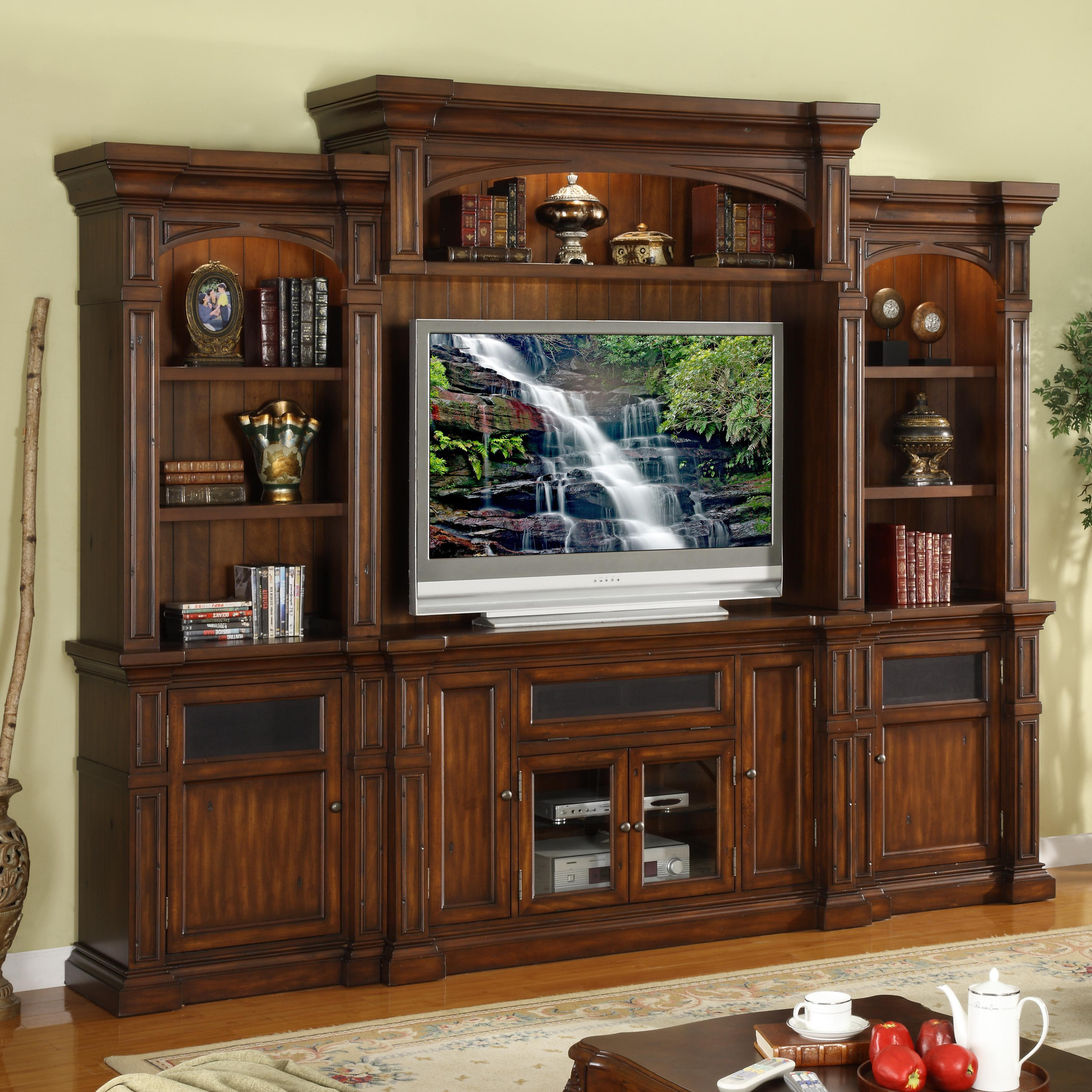 Legends Furniture Berkshire  Wall Unit Entertainment Center - Item Number: ZG-B1100+B3201+B3202+B3203
