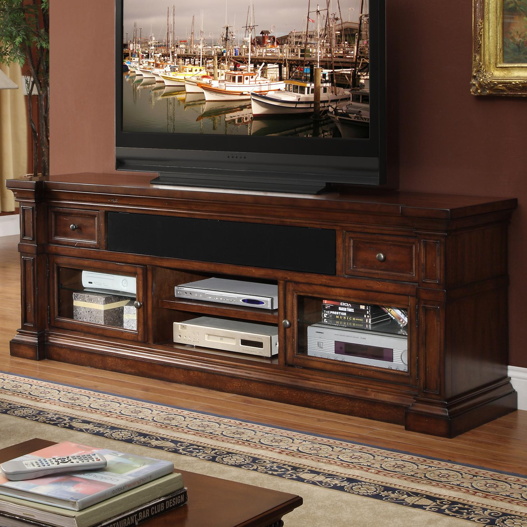 "Legends Furniture Berkshire  76"" Media Console - Item Number: ZG-B1476"