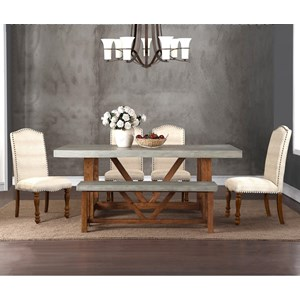 Legends Furniture Bohemian 6 Piece Table & Chair Set with Bench