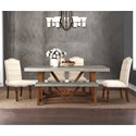 Legends Furniture Bohemian 6 Piece Table & Chair Set with Bench - Item Number: ZBOH-8010+4x8031+8016