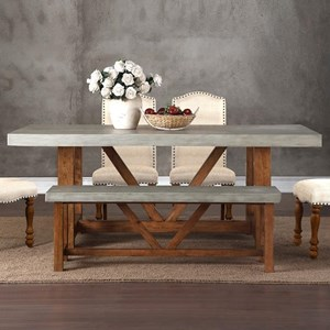 Legends Furniture Bohemian Cement Top Dining Table