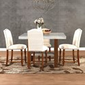 Legends Furniture Bohemian 5 Piece Counter Height Table & Chair Set - Item Number: ZBOH-8020+4x8041