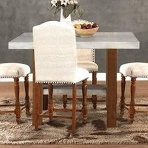 Legends Furniture Bohemian Cement Top Counter Height Table