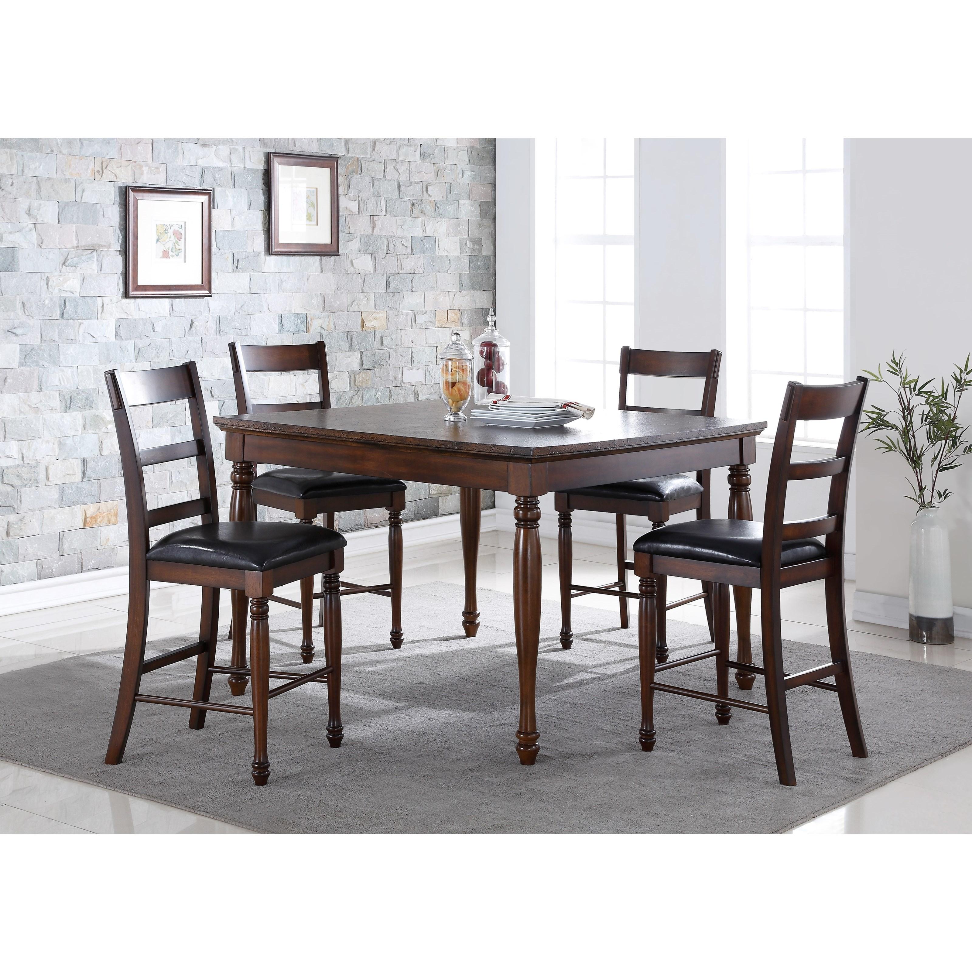 Legends Furniture Breckenridge 5 Piece Counter Height Table & Stool Set - Item Number: ZBRG-8000D