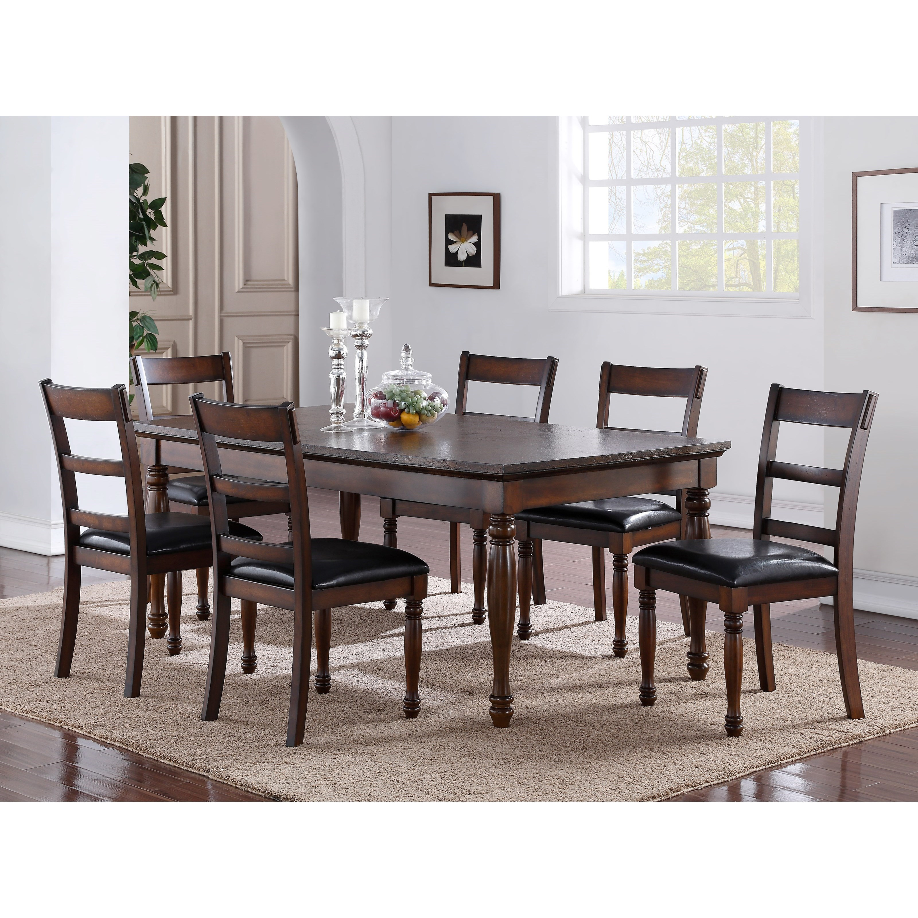Legends Furniture Breckenridge 7 Piece Table & Chair Set - Item Number: ZBRG-8060D