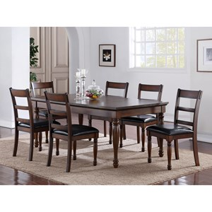 Legends Furniture Breckenridge 7 Piece Table & Chair Set
