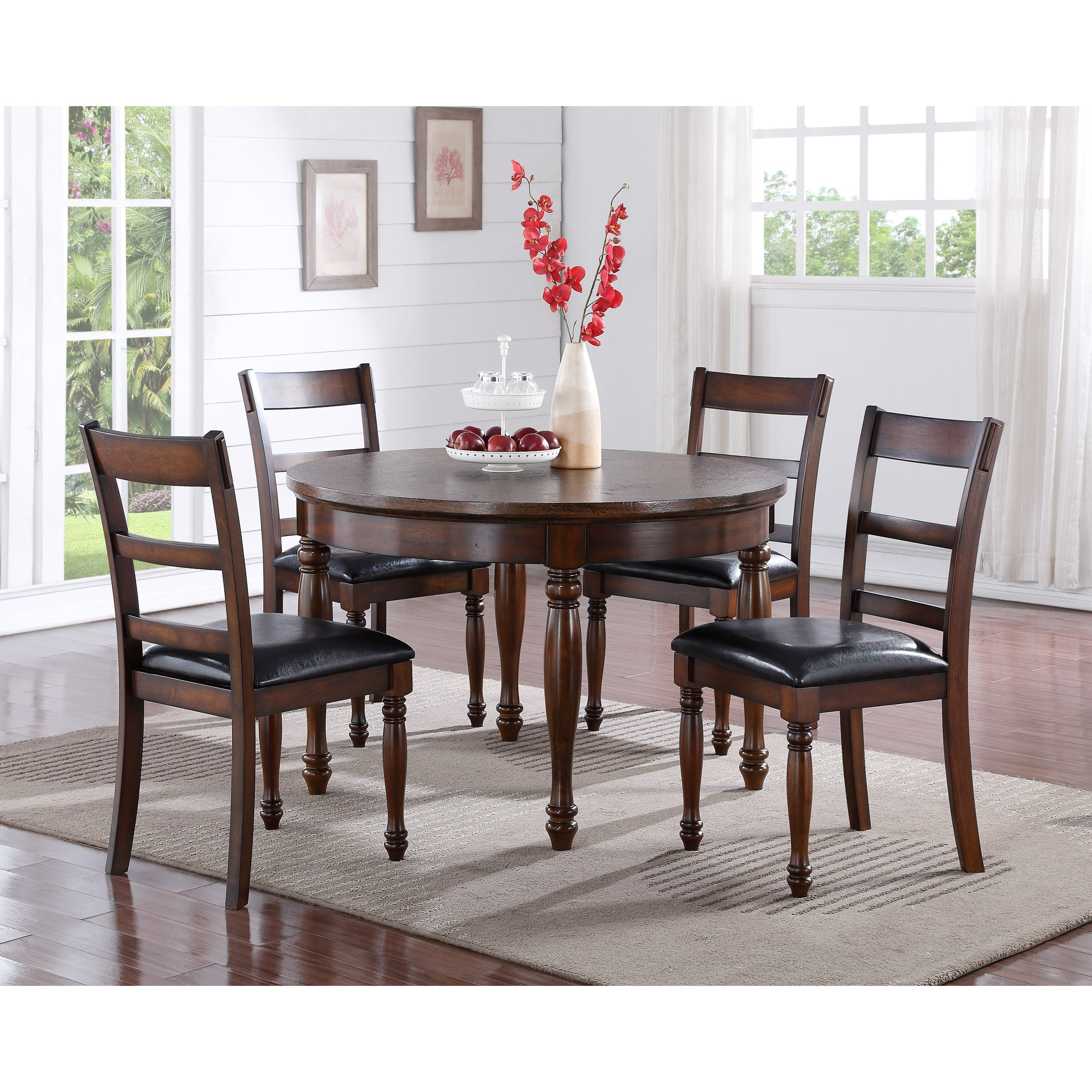 Legends Furniture Breckenridge 5 Piece Round Table & Chair Set - Item Number: ZBRG-8080D