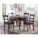 Vendor 1356 Breckenridge 5 Piece Round Table & Chair Set - Item Number: ZBRG-8080D