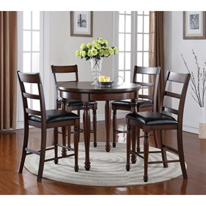 Legends Furniture Breckenridge 5 Piece Round Counter Height Table Set