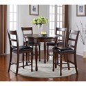 Legends Furniture Breckenridge 5 Piece Round Counter Height Table Set - Item Number: ZBRG-8090D