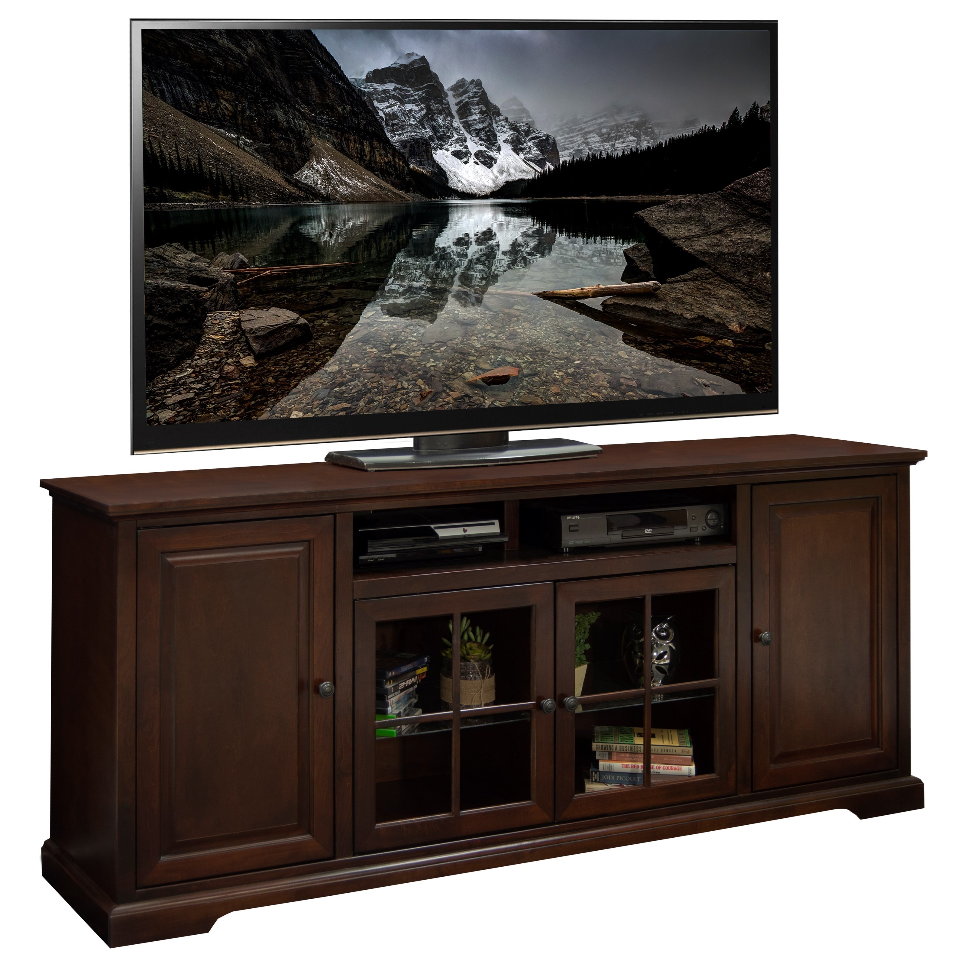 "Legends Furniture Brentwood Brentwood 78"" TV Console - Item Number: BW1578.DNC"