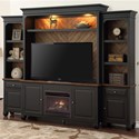 Legends Furniture Brighton Entertainment Wall Console - Item Number: ZBTN-1001