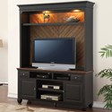 Legends Furniture Brighton TV Console and Hutch - Item Number: ZBTN-1770+2070