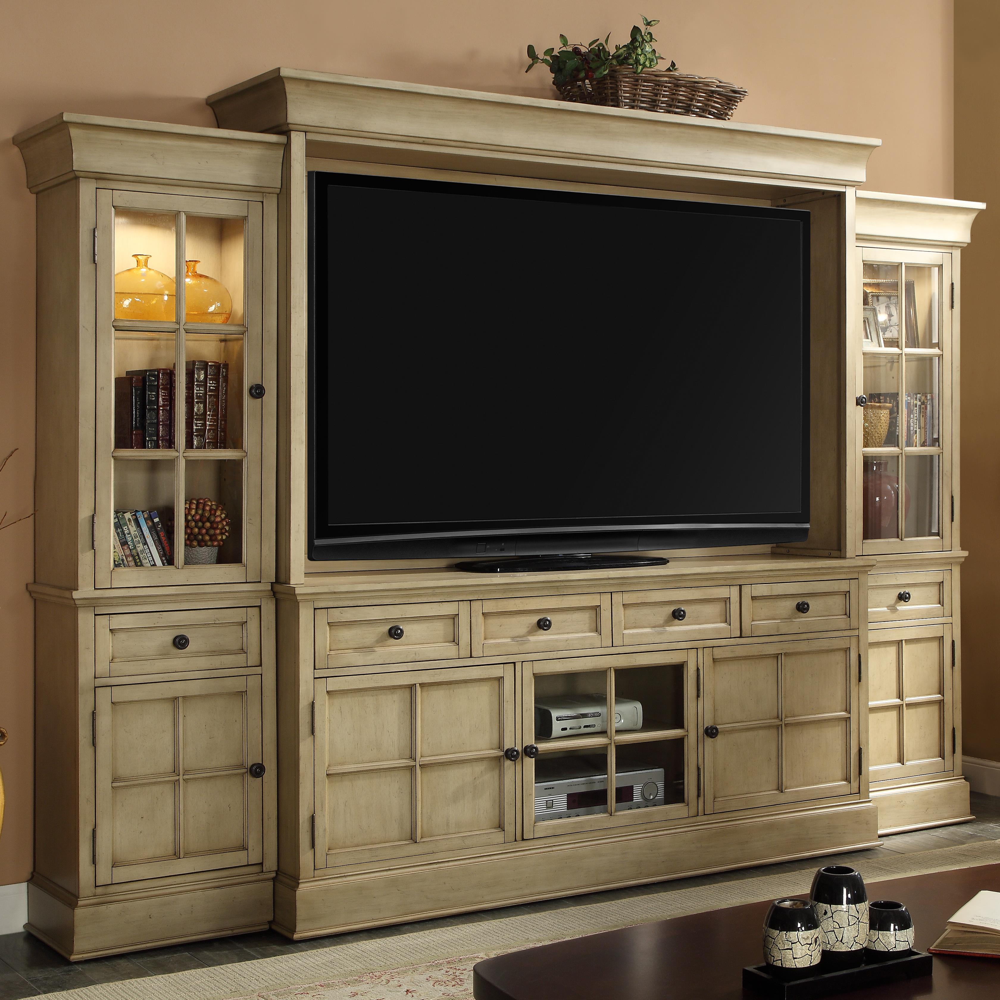 Legends Furniture Bristol Collection Entertainment Wall Unit - Item Number: ZBRT-1774+2074+3001+3002