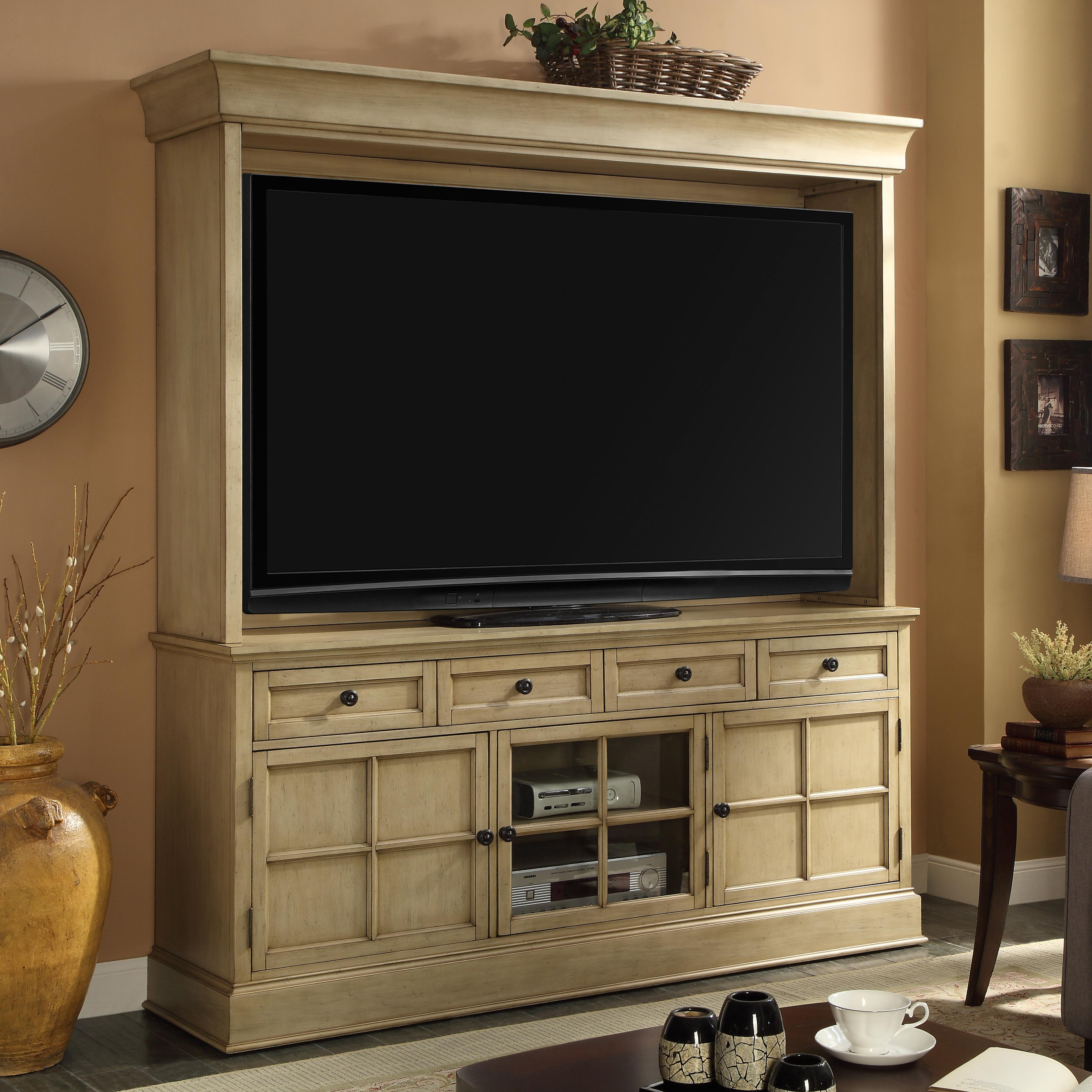 Legends Furniture Bristol Collection TV Console and Hutch - Item Number: ZBRT-1774+2074