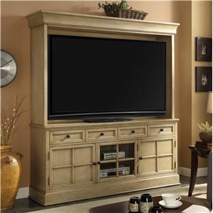 Legends Furniture Bristol Collection TV Console and Hutch