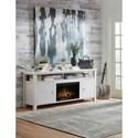"Legends Furniture Brooks 62"" Fireplace Console - Item Number: BK5301-GDG"