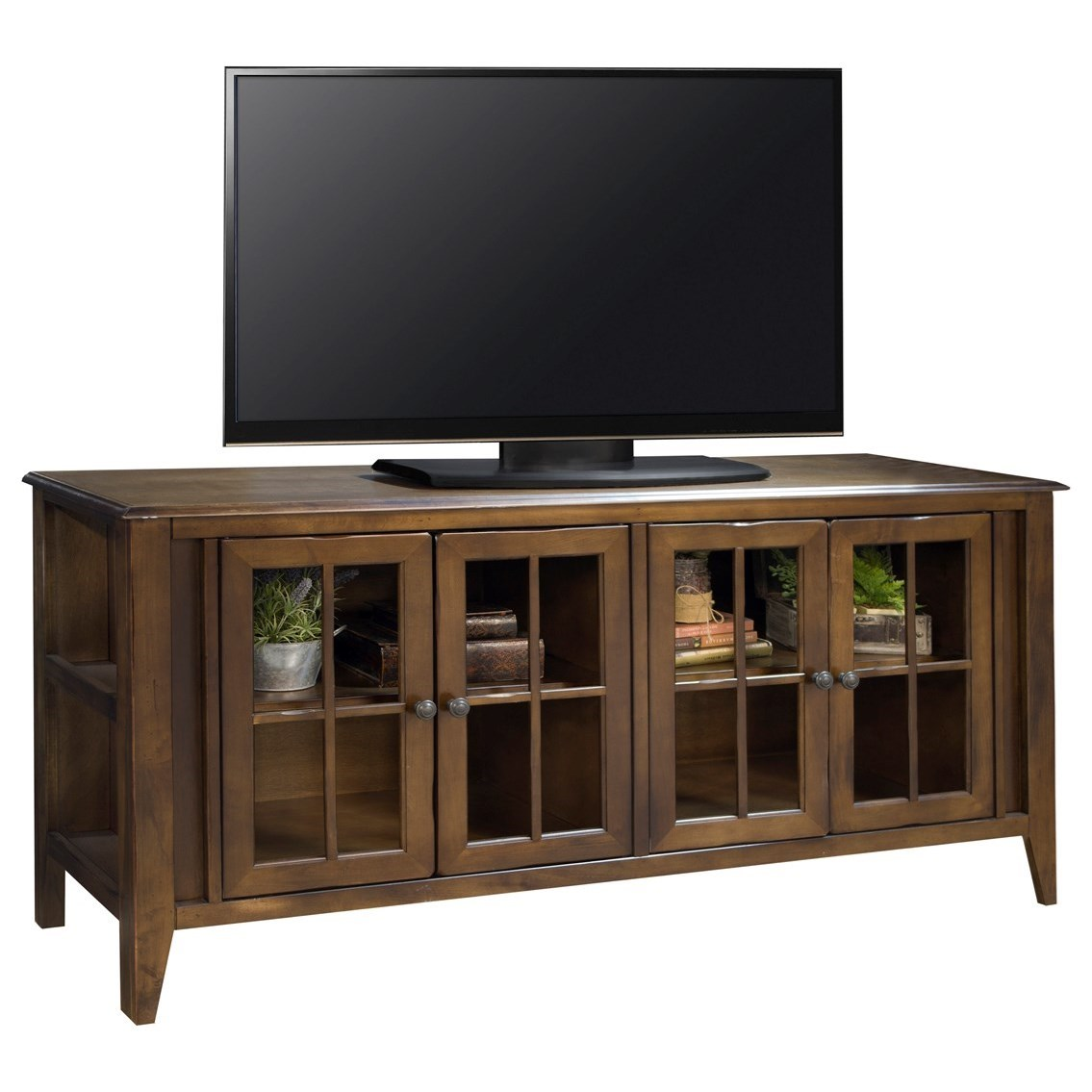 "Legends Furniture Brownstone Collection Brownstone 63"" TV Console - Item Number: BS1251-RBB"